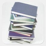 Pila de libros calcomanías cuadradases