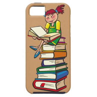 Pila de libros iPhone 5 Case-Mate fundas