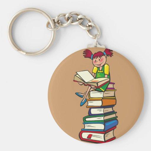 Pila de libros llaveros personalizados