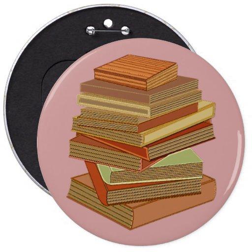 Pila de libros - pastel pin redondo de 6 pulgadas
