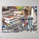 Pila de libros poster
