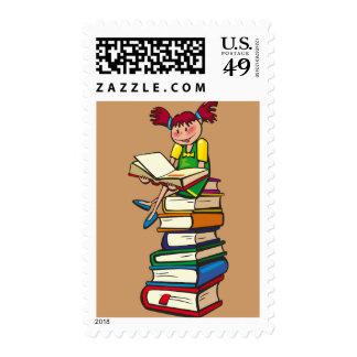 Pila de libros sellos