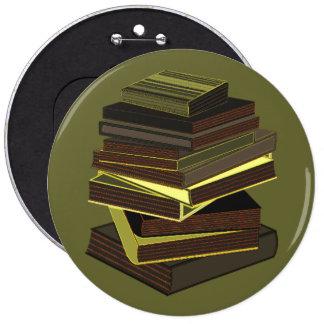 Pila de libros - verde pin redondo 15 cm