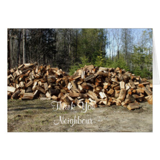 Pila de madera tarjeta de felicitación