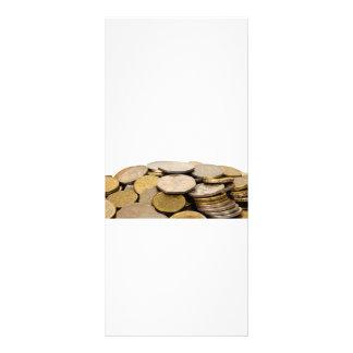 Pila de monedas tarjeta publicitaria personalizada