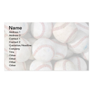 pila de muchos béisboles tarjetas de visita