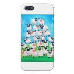 Pila de ovejas iPhone 5 carcasas