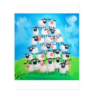 Pila de ovejas postal
