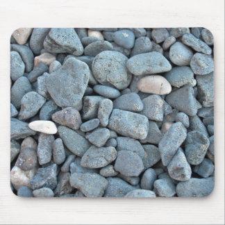 Pila de piedras del gris de Smoothy Tapetes De Raton