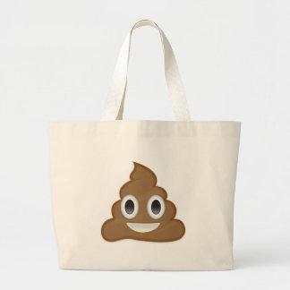 Pila de Poo Emoji Bolsa Tela Grande
