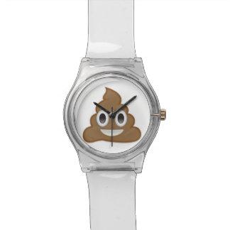 Pila de Poo Emoji Reloj