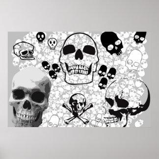 Pila de poster de los cráneos póster