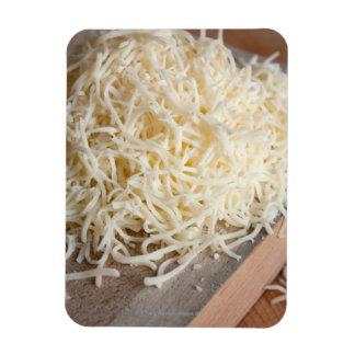 Pila de queso fresco de la mozzarella imanes rectangulares