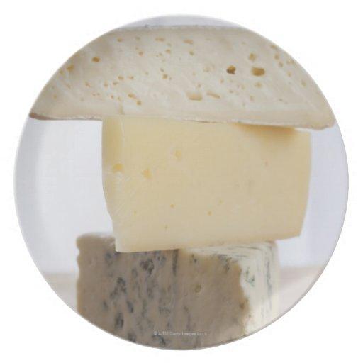 Pila de queso platos