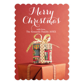 """Pila de regalos del navidad invitación 5"""" x 7"""""""