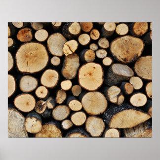 Pila de registros del árbol impresiones