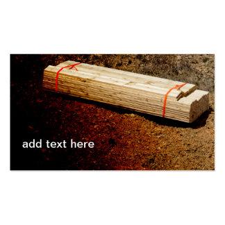 pila de tablones de madera tarjetas de visita
