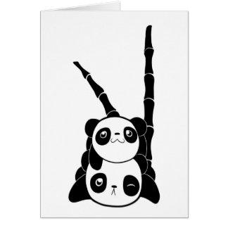 Pila de tarjeta de las pandas