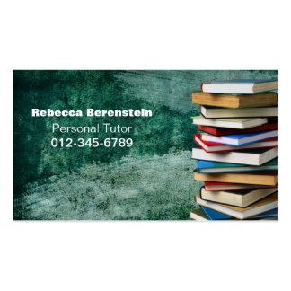 Pila de tarjeta de visita esmeralda del profesor p