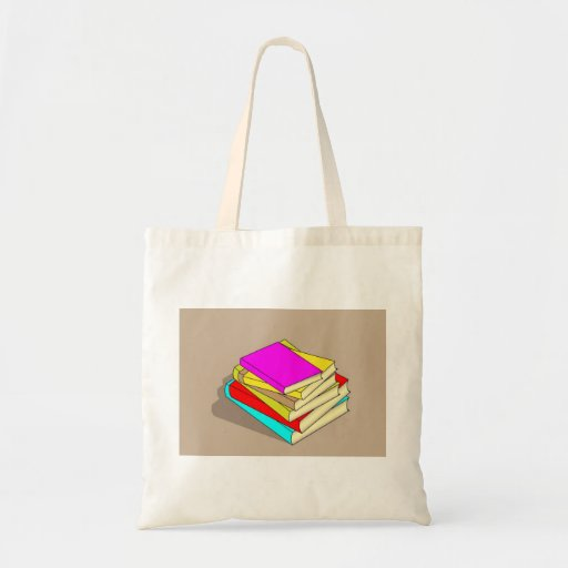 Pila de tote de los libros bolsa de mano