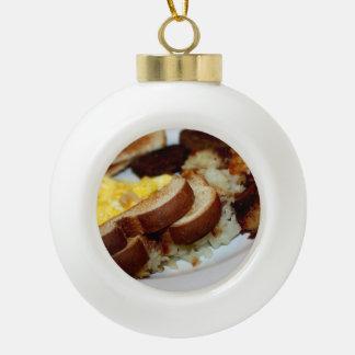 Pila del desayuno adorno de cerámica en forma de bola