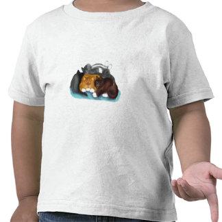Pila del gatito el dormir camisetas
