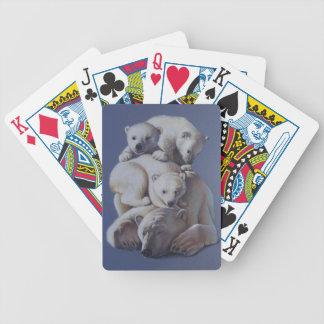 Pila del oso polar baraja de cartas bicycle