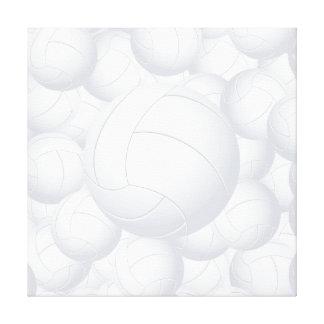pila del voleibol lienzo envuelto para galerias