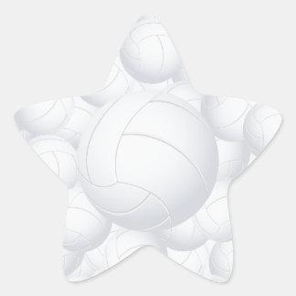 pila del voleibol pegatina en forma de estrella
