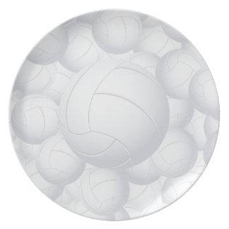 pila del voleibol platos de comidas