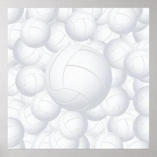 pila del voleibol póster