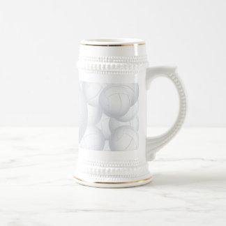 pila del voleibol tazas de café