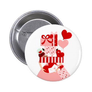 Pila imposible de la tarjeta del día de San Valent Pin Redondo 5 Cm