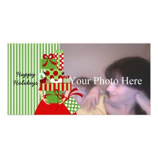 Pila imposible del regalo tarjetas con fotos personalizadas