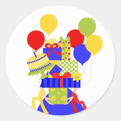 Pila imposible No.2 del cumpleaños a lo largo de t Pegatinas