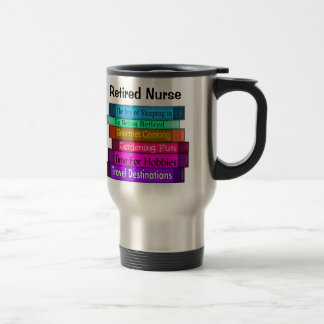 Pila jubilada de los regalos de la enfermera del taza de viaje de acero inoxidable