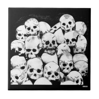 Pila-O-Cráneos Azulejo Cuadrado Pequeño