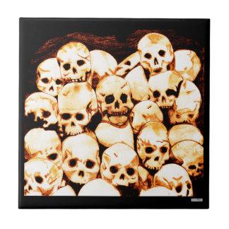 Pila-O-Cráneos (envejecidos) Azulejo Cuadrado Pequeño