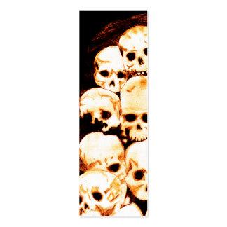 Pila-O-Cráneos (envejecidos) Bookmark1 Tarjetas De Visita Mini