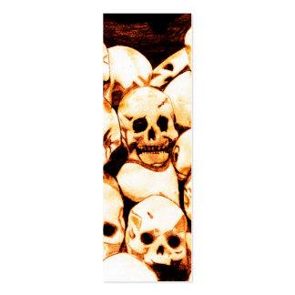 Pila-O-Cráneos (envejecidos) Bookmark2 Tarjetas De Visita Mini
