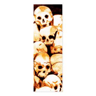 Pila-O-Cráneos (envejecidos) Bookmark3 Tarjetas De Visita Mini