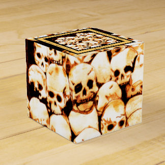 Pila-O-Cráneos (envejecidos) Cajas Para Regalos De Fiestas