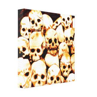 Pila-O-Cráneos (envejecidos) Impresion De Lienzo