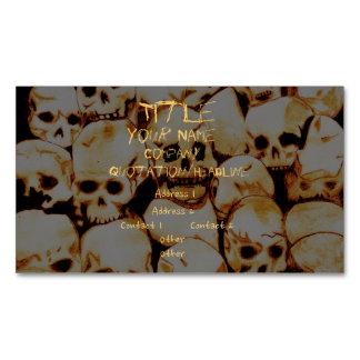 Pila-O-Cráneos (envejecidos) Tarjetas De Visita Magnéticas (paquete De 25)