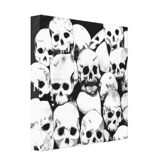 Pila-O-Cráneos Impresión En Lienzo
