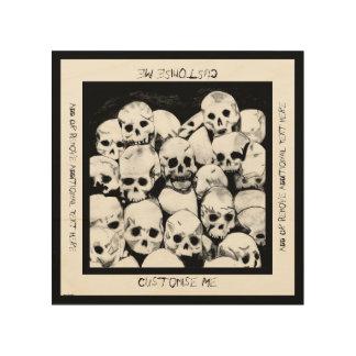Pila-O-Cráneos Impresión En Madera
