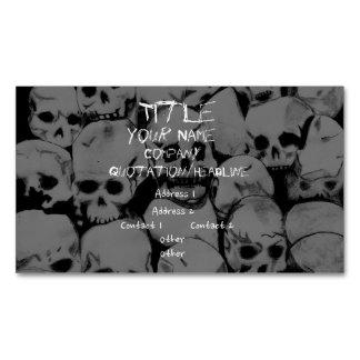 Pila-O-Cráneos Tarjetas De Visita Magnéticas (paquete De 25)