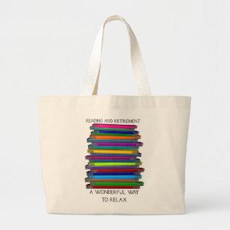 Pila única de los regalos del retiro de diseño de  bolsas lienzo
