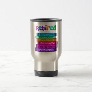 Pila única de los regalos del retiro de diseño de taza de viaje de acero inoxidable