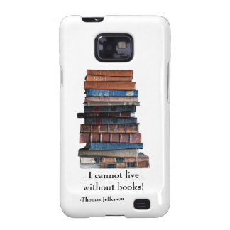 Pila vieja libro-con de cita de Jefferson Samsung Galaxy SII Funda